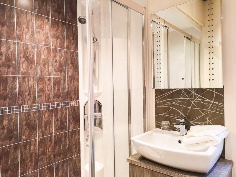 Hardknott lodge shower