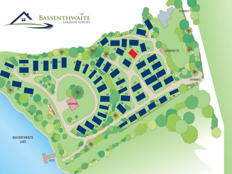Site map Lodge-16-HAWESWATER